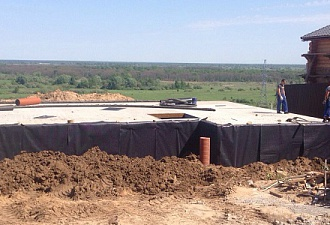 Raft foundation construction to a private residence building in Nizhny Novgorod