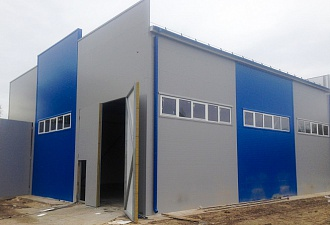 Warm storage warehouse construction on turnkey basis with a total area of 324 sq.m. in Nizhny Novgorod